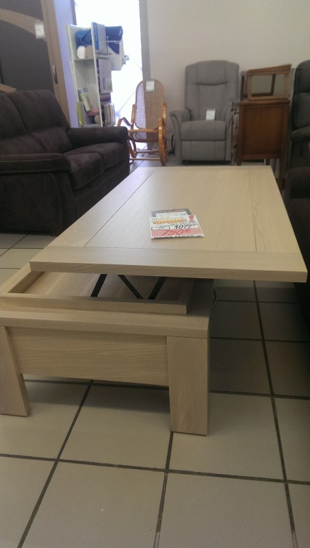Table de salon dinette plateau relevable osmoz destockages d 39 usine - Table de salon plateau relevable ...