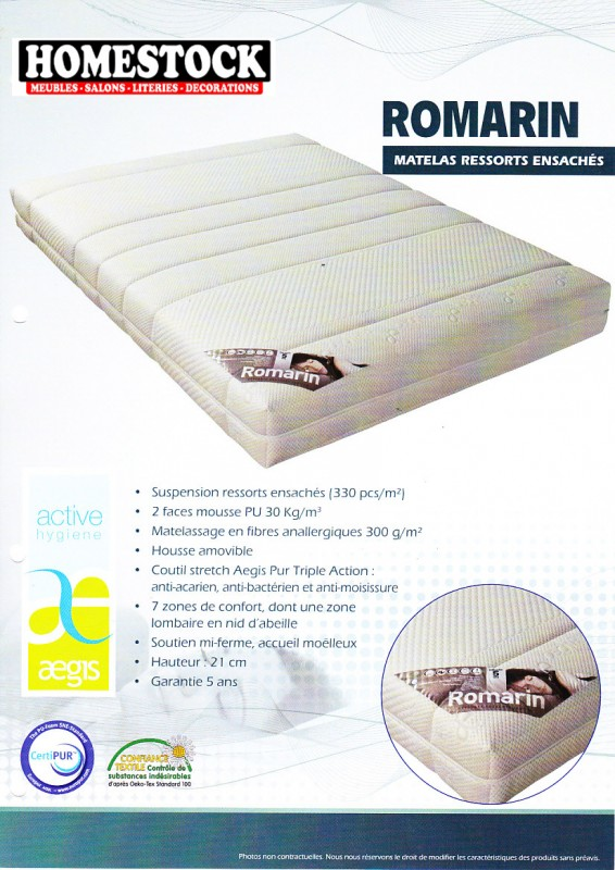 matelas ressorts romarin special relaxation literie. Black Bedroom Furniture Sets. Home Design Ideas