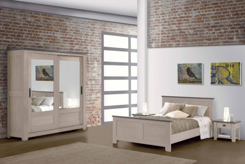 COLLECTION WHITNEY - Lits, commode, armoires, chevets, nombreux meubles