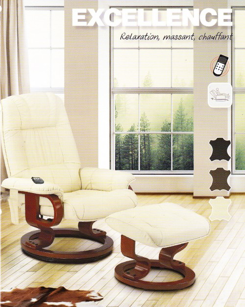 FAUTEUIL EXCELLENCE, RELAXATION, MASSANT, CHAUFFANT
