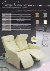 FAUTEUIL RELAXATION ODYSSEE AVEC SON CANAPE
